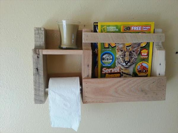 upcycled pallet toilet paper holder