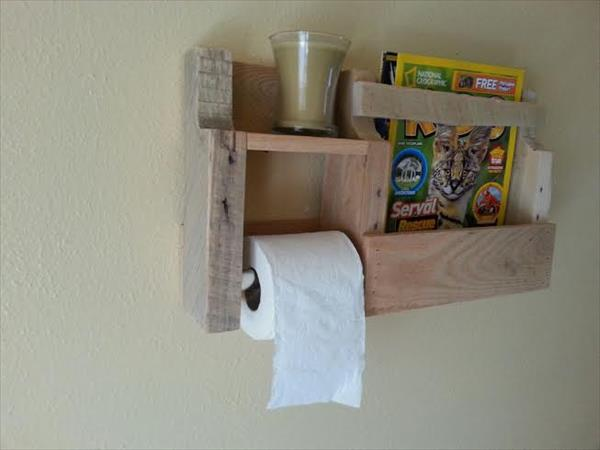 wooden pallet toilet paper holder