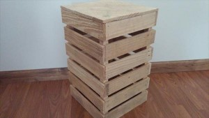 rustic pallet lighted end table
