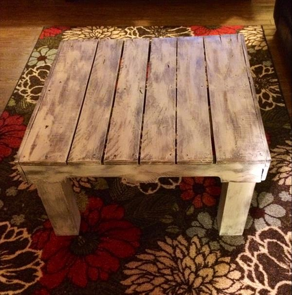 scorched pallet coffee table