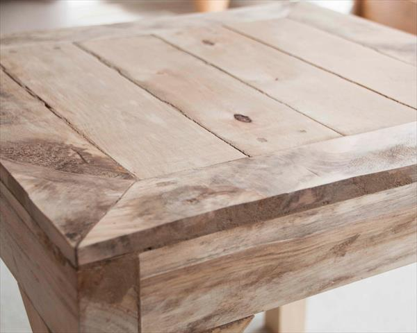 upcycled pallet rustic side table