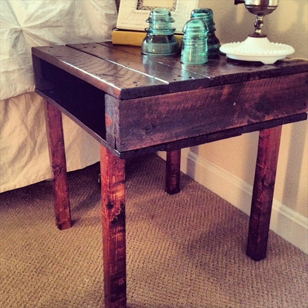 pallet nightstand - do it yourself pallets | wooden pallet furniture Night Stands Made from Pallets