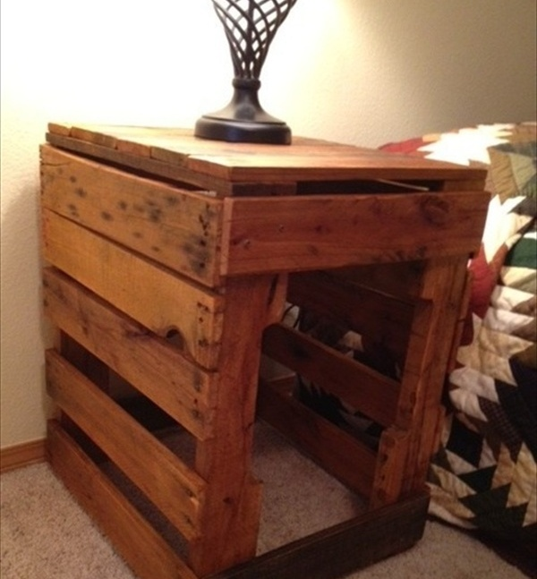 Pallet Nightstand Do It Yourself Pallets Wooden Pallet