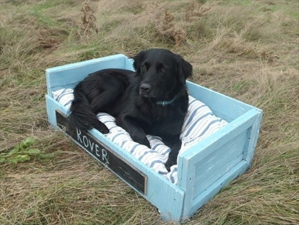 small pallet dog bed