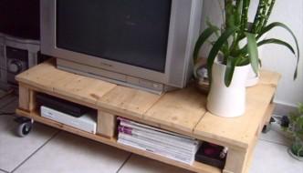 pallet tv table diy