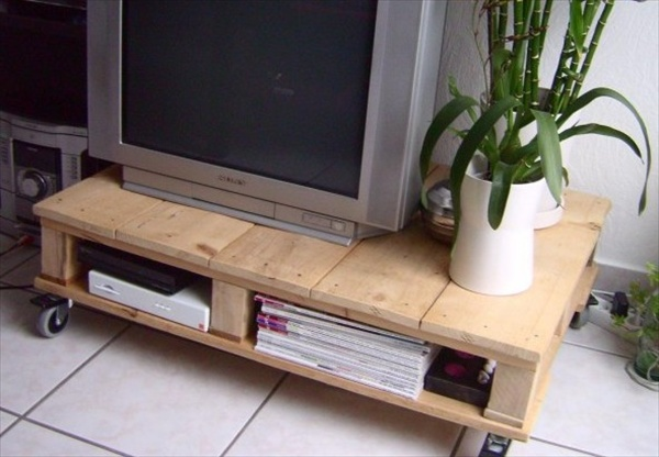 pallet tv table diy