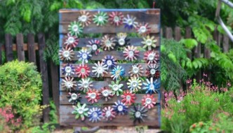 Pallet Idea for Garden Art With Skid