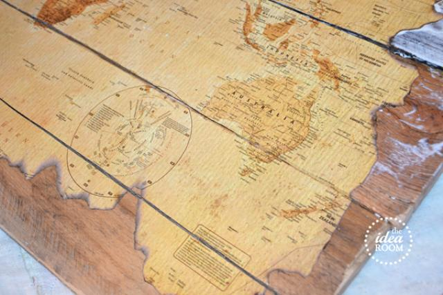 Wooden Pallet Map