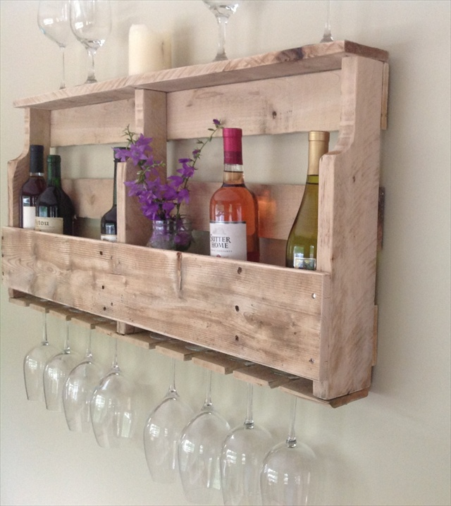 Wood Pallet Wine Racks