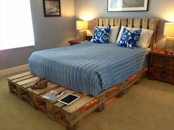 modern pallet bed