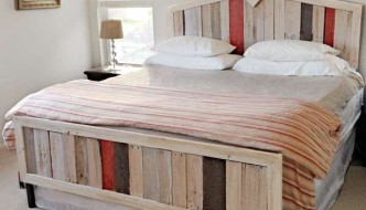 pallet wood bed creation