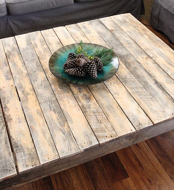 coffee table our of pallet