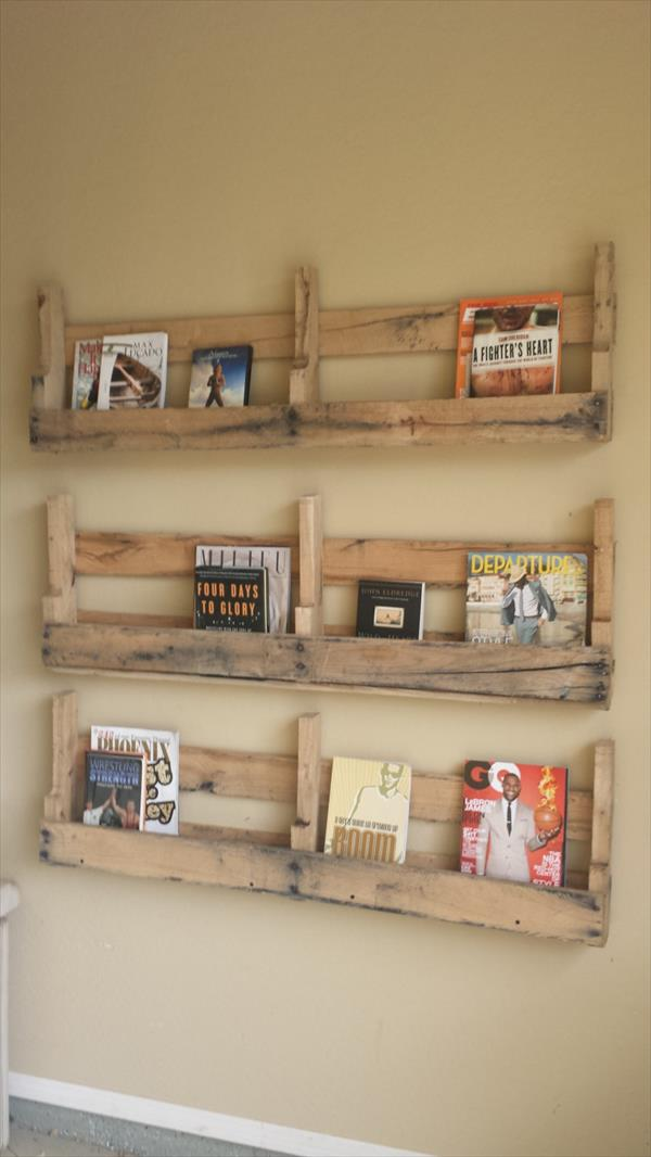 reclaimed pallet shelves