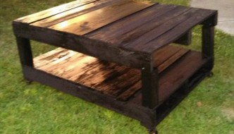 DIY Pallet Black Coffee Table