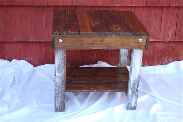 restored pallet side table