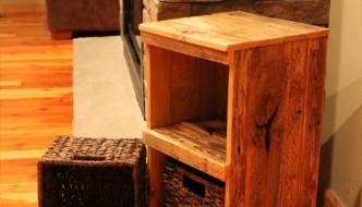 DIY Pallet Rustic Storage Bins / Nightstand