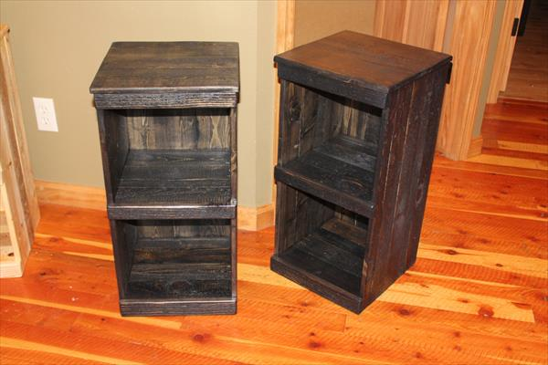 diy pallet rustic storage bins / nightstand | wooden pallet furniture Night Stands Made from Pallets