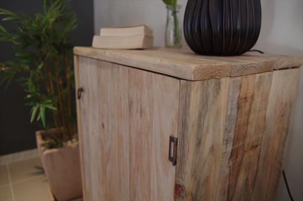 handmade pallet living room floor cabinet