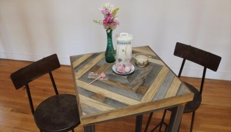 DIY Industrial Pallet Steel Table