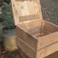 handmade pallet storage box