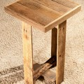 upcycled pallet end table