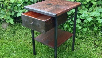 Industrial Pallet Vintage Side Table