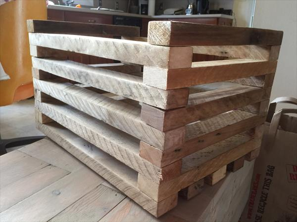 reclaimed pallet grid crate box