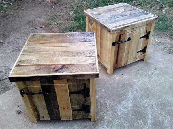 diy vintage pallet nightstands | wooden pallet furniture Diy Rustic Nightstand