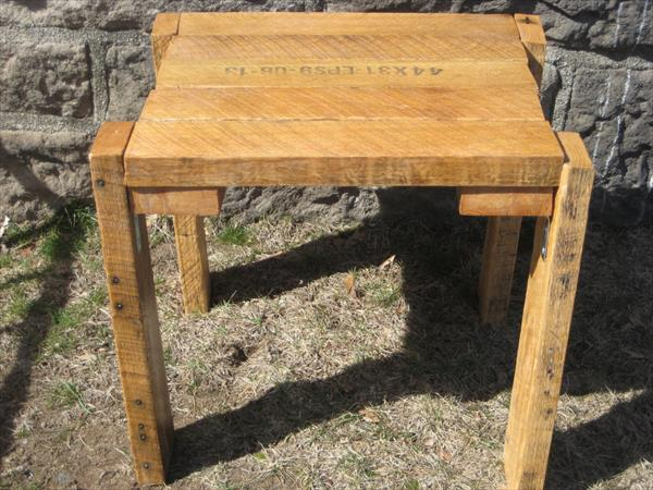 rustic yet modern pallet table