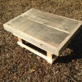 recycled pallet footstool