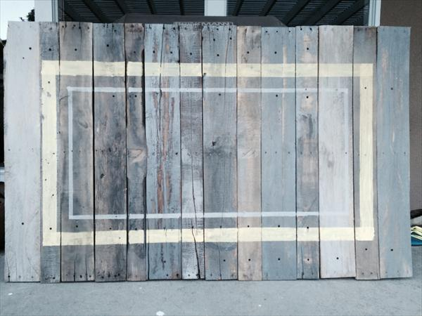 recycled pallet vintage accent headboard