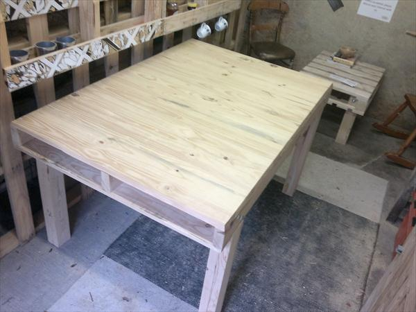 rustic yet modern pallet kitchen table and dining table
