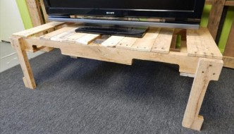 DIY Pallet TV Stand & Coffee Table
