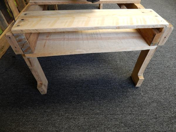 rustic yet modern pallet coffee table and TV stand