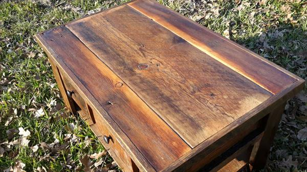 handcrafted pallet coffee table with storage