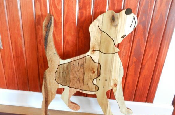 reclaimed pallet beagle dog wall art