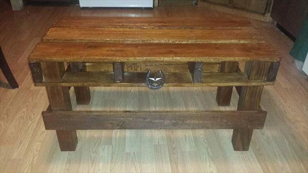 diy vintage pallet coffee table
