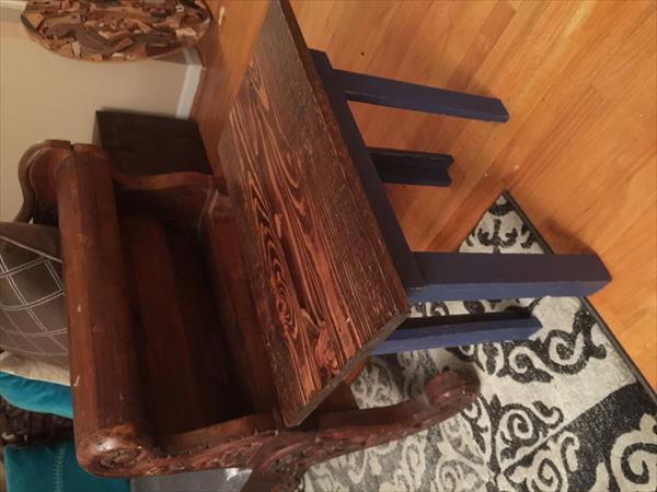 handcrafted pallet side table
