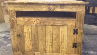 DIY Pallet Sectional Media Stand – TV Stand