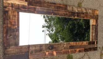 Wood Pallet Wall Mirror