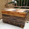 repurposed pallet chest