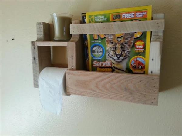 recycled pallet toilet paper holder