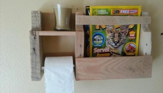 Pallet Toilet Paper Holder with Shelves