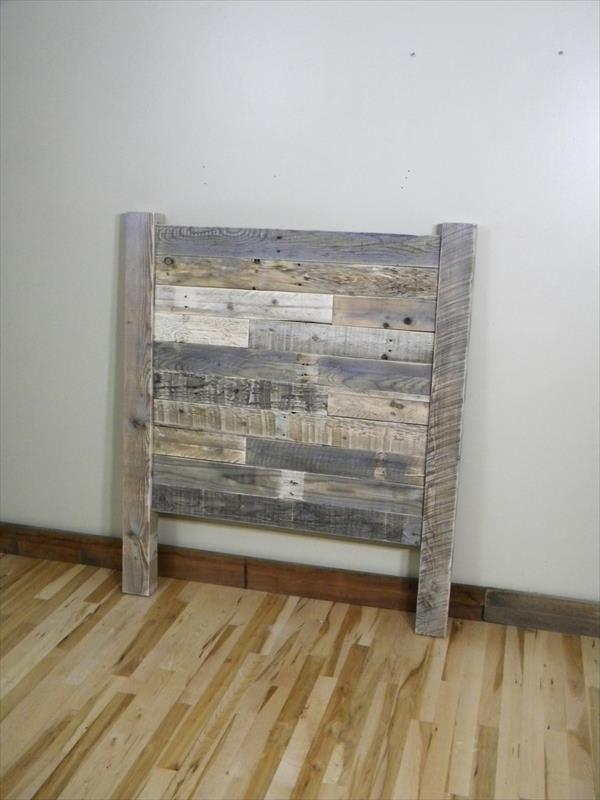 reclaimed pallet rustic headboard