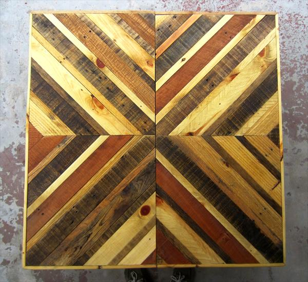 Chevron Pallet Coffee Table Wooden Pallet Furniture